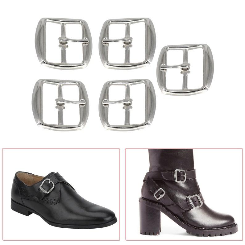 25mm Wide Silver Metal Buckle Fastener DIY Repair Shoes Sandals Footwear Crafts