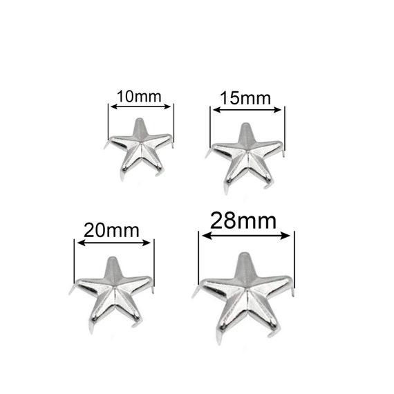 50 Pcs Star Studs Metal Claw Beads Nailhead Punk Rivets with Spikes Bronze, 20 Mm