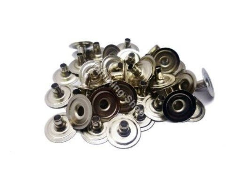Post Only Silver Heavy Duty Press Studs Snap Fasteners Poppers Press Studs Size 15mm