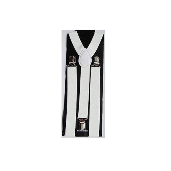 UK Mens Suspenders Gents 35mm Wide  Adjustable Elastic Braces