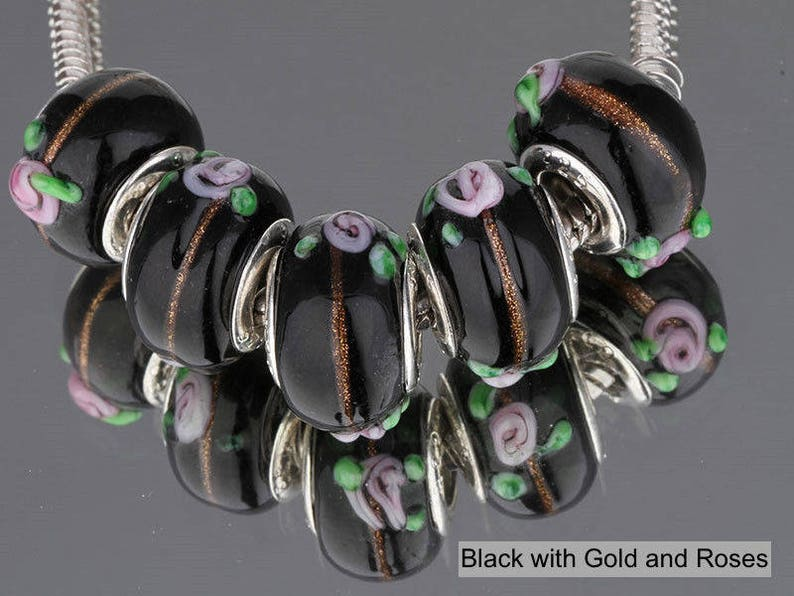 Gorgeous Silver Plated Fancy Murano Spacer Beads
