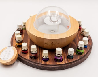 Essential Oil Holder, Large Round Essential Oil Organizer for Larger Diffusers