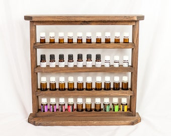 Essential Oil Storage, Wood Essential Oil Shelf, Essential Oil Organizer/Holder/Gift, Rustic Wood Shelf