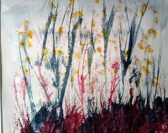 Autumn,painting,watercolour, landscape,original,watercolour