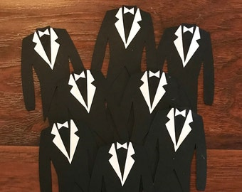 Who has the Groom? Wedding Shower Game 10 count- tuxes only