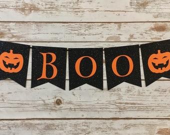 Boo Banner    Halloween Banner   Halloween Decorations
