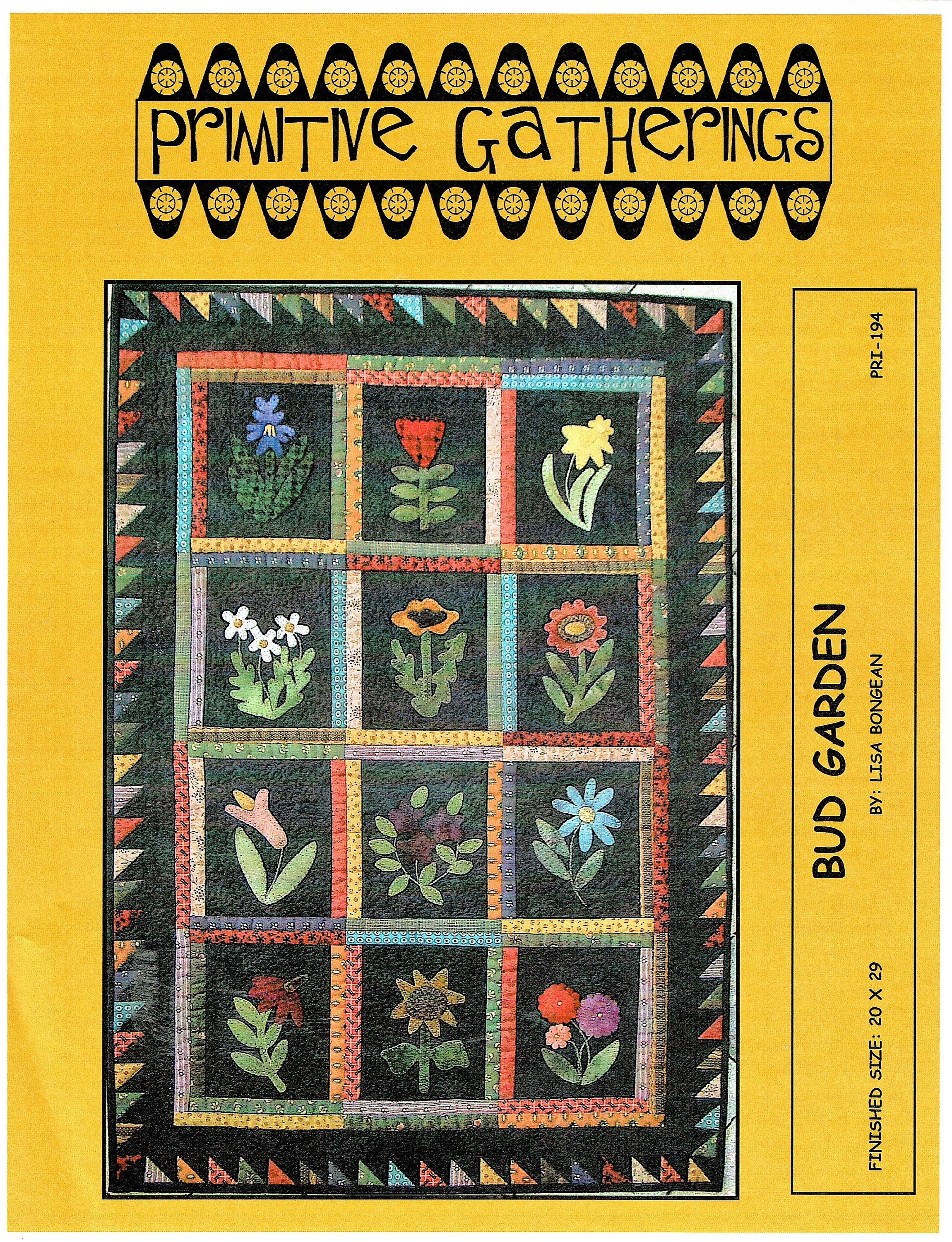 Bud Garden quilting and applique pattern from Primitive