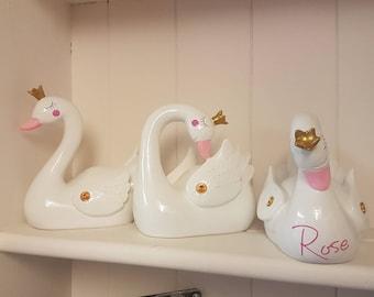 Swan Princess Money Box Christmas Birthday Gift Idea