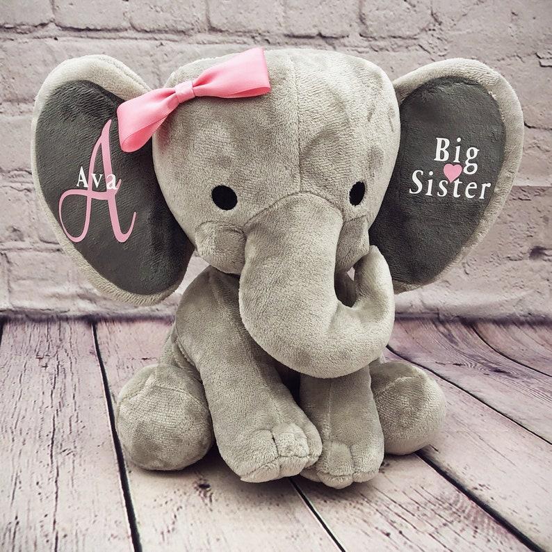 Big sister stuffed animal Pregnancy announcement elephant image 0