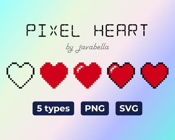 Pixel Heart Image Svg Png Pixel Art 8bit Digital Download Etsy
