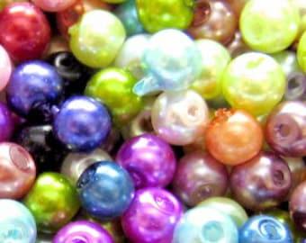 A0972-A 200 pieces 6mm Glass Pearl Beads Cobalt Blue