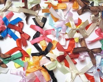satin ribbon bows 7mm- 30 pcs