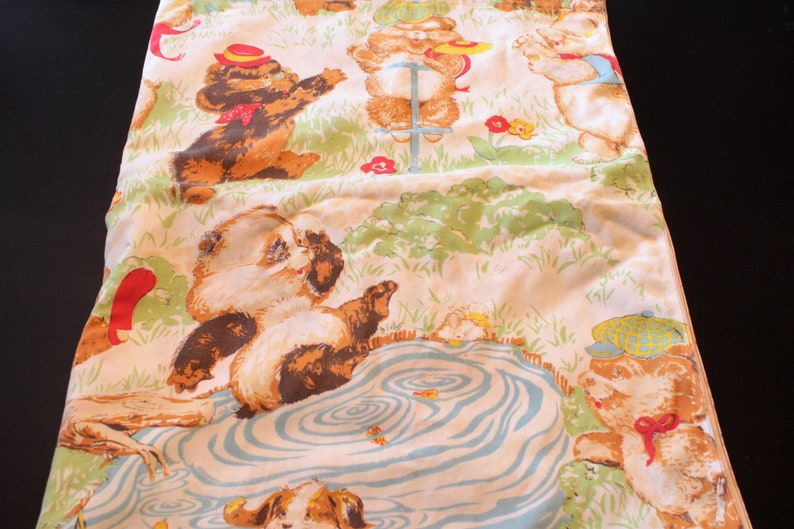 Vintage Shirt Tales Tails Bedsheet Bed Sheet Flat Twin Size Bed Sheet 1980s  Hallmark 1980s Bedding
