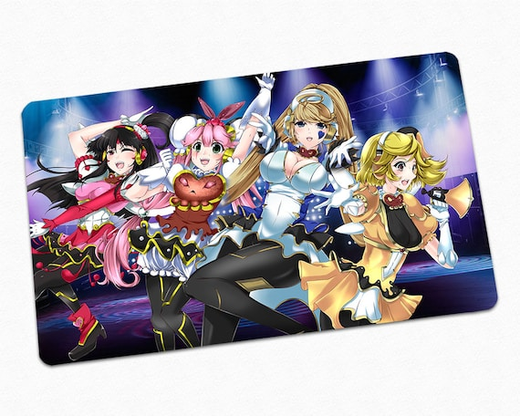 photo about Printable Yugioh Cards identify YuGiOh Trickstar Playmat, Card Video game Enjoy Mat, Tailor made Style Lycoris Lilybell Holly Angel Candina Art, Alluring Anime Gals Gaming Tabletop