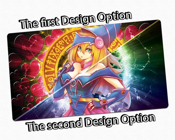 Custom Yugioh Card Game Playmat With Sexy Dark Magician Girl Fan Made Design Playing Surface Tcg Play Mat Gaming Tabletop Large Desk Mat