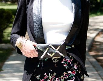 Faux Leather - Criss Cross Belt Bag
