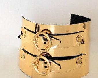 Faux Leather Double Belt Bracelet