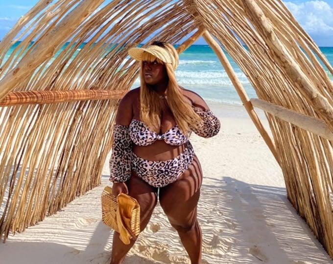 Cheetah Bikini Set (Plus)