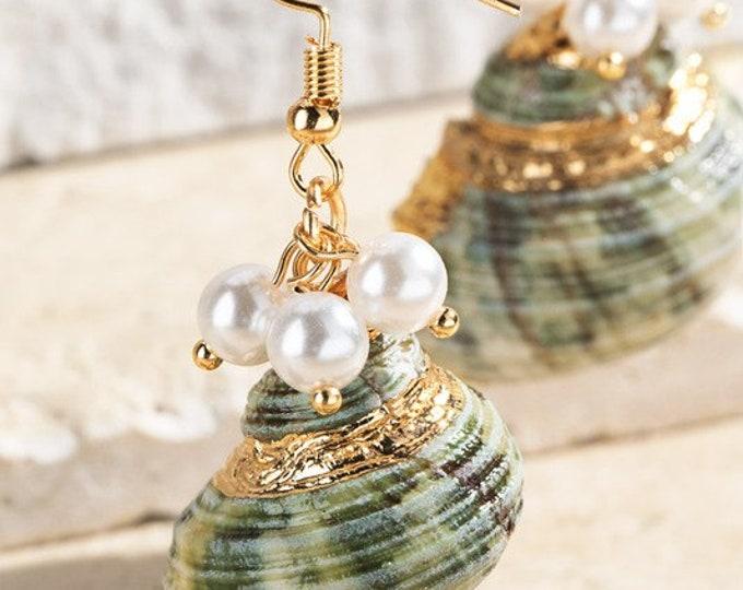 Caribbean Seashell Earrings