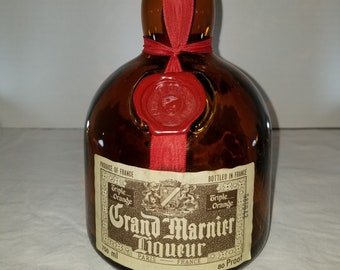 Vintage Collectible Grand Marnier Liquer Bottle.