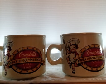 Set of 2 Vintage Collectible Campbell's Soup cups. Campbells