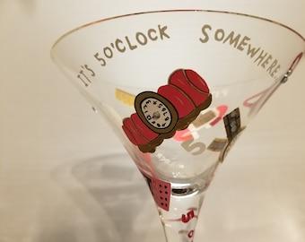 Lolita it's 5 O'Clock Somewhere glass.