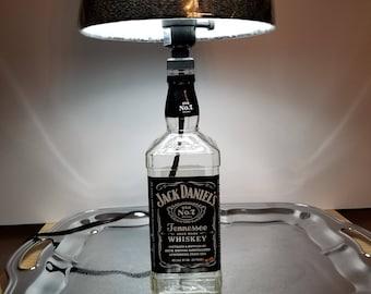 bb0e3c28693992 Jack Daniels Lamp with Shade. 1 Litre Bottle. 19
