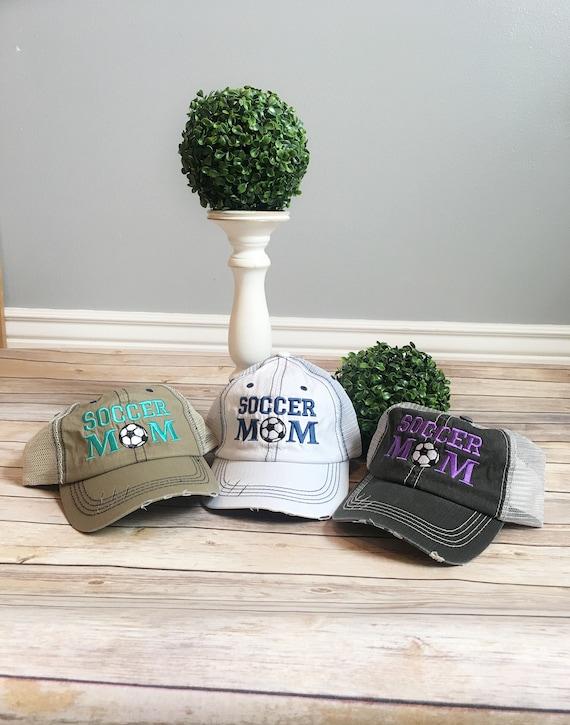 fe7dc093c56 Soccer mom hat soccer trucker hat mama style hat baseball