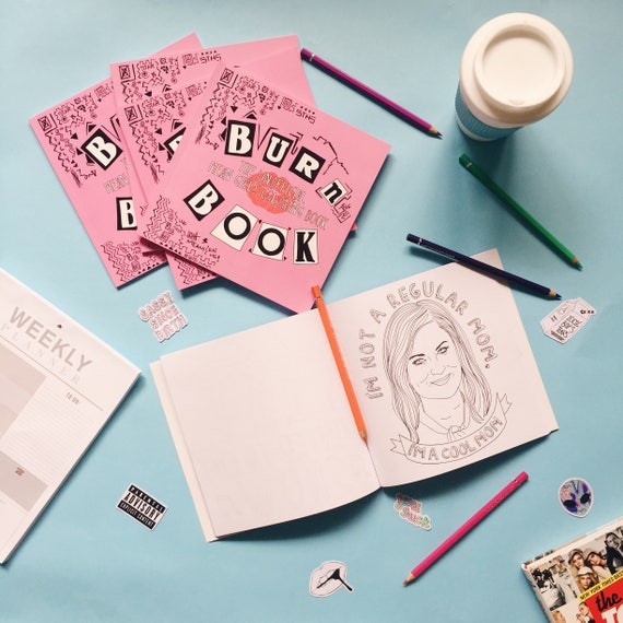Burn Book The Unofficial Mean Girls Coloring Book Etsy