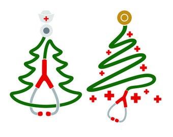 Nurse Christmas Svg.Nurse Christmas Svg Etsy