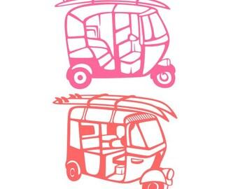 Auto Rickshaw Etsy