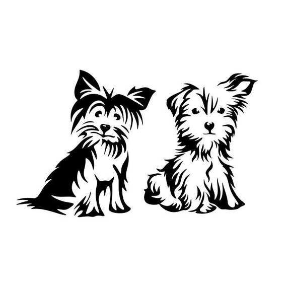 Dog Yorkie Yorkshire Terrier Cute Cuttable Design Svg Png Dxf Etsy
