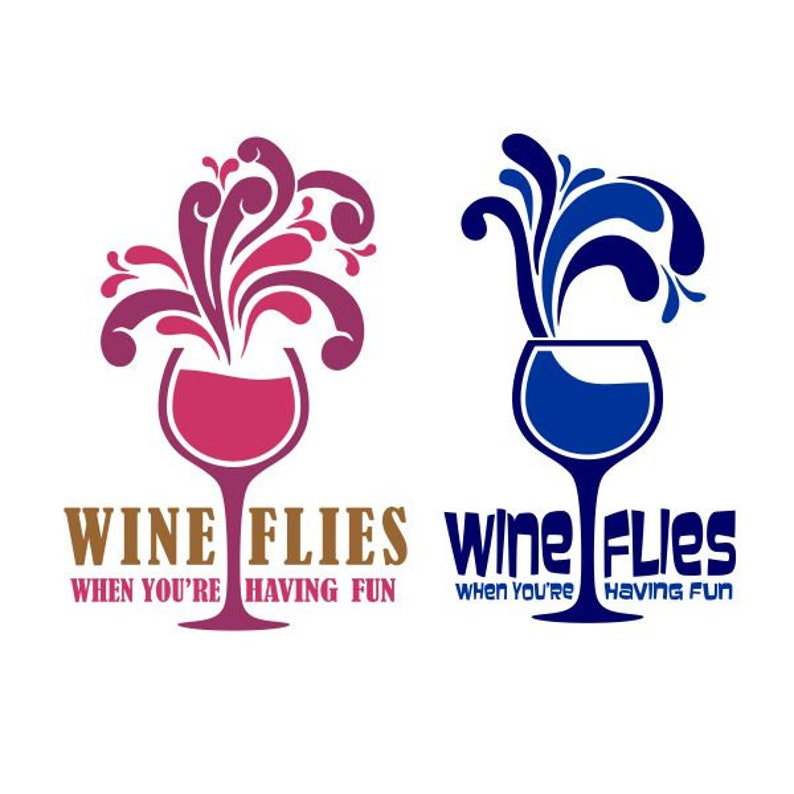 b6fa3219bbb Wine Flies when you re having fun Cuttable Design SVG PNG