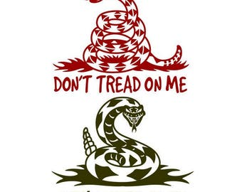 Don't Tread On Me Cuttable Design SVG PNG DXF & eps Designs Cameo File Silhouette