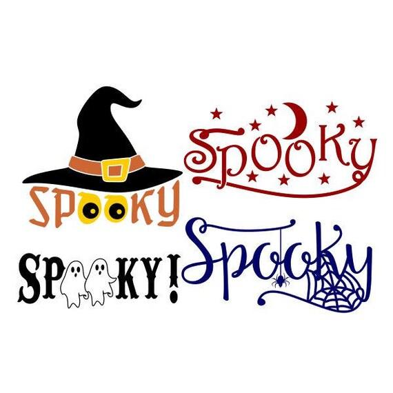 Spooky Halloween couper SVG PNG DXF & eps dessins camée fichier Silhouette