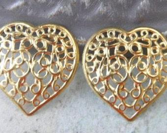 Vintage/'80 Watermark Earrings SilverGold PlateNun/'s Closure