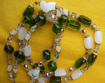 Lot de 4 Perles en Verre Lampwork Murano Carrées 20mm Vert Marron