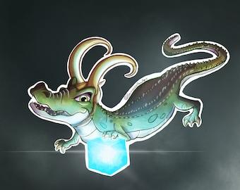 Alligator Loki Print, Marvel Gifts, Marvel Loki, Tom Hiddleston, TVA, Loki Thor Fanart, Loki Variant, Tesseract, Marvel Art