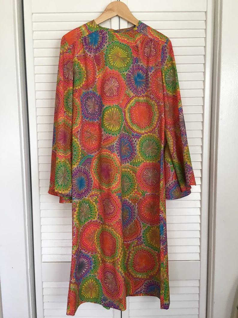 1244775e868bb Superbe robe rétro / Vintage robe / rétro / années 60 robe Vintage / 1960 s