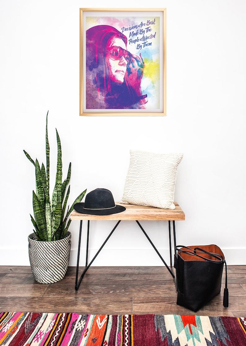 Gift for Mom Dorm Room Decor Feminist Wall Art Gloria Steinem Poster