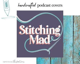 Custom Podcast Cover Art Logo Design Branding Digital Illustration