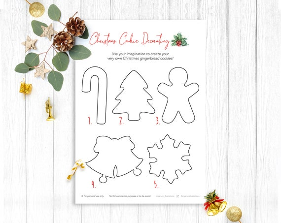 Design Your Own Christmas Cookies Instant Download Colouring