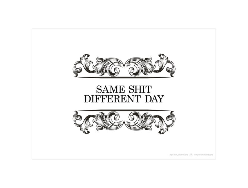Printable Typography Wall Art Same Shit Different Etsy