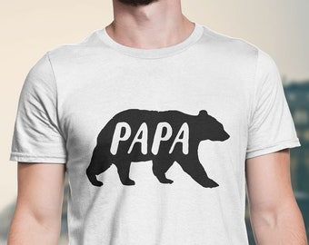 3d46b872 Papa Bear, Funny T-shirts for Men, Tank, Jersey, New Dad, Plus Size,  Graphic Tee T-Shirts, Father's Day, Birthday