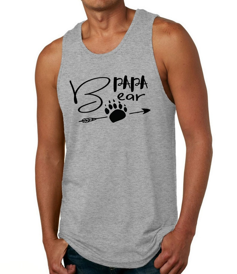 f279059a Papa Bear Funny T-shirts for Men Tank Jersey New Dad Plus   Etsy