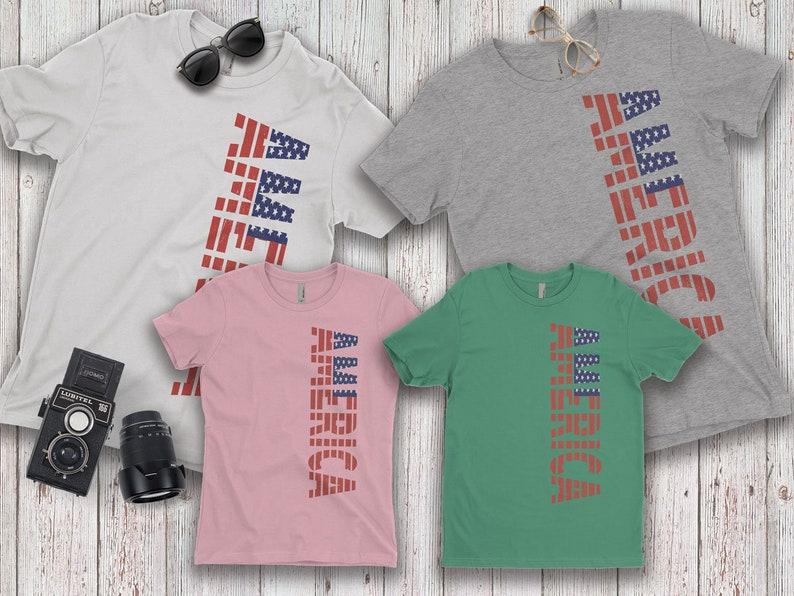 America Family T-shirts for MenWomen Dad Mom Boy Girl   Etsy