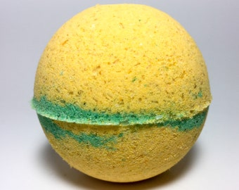 Sunflower Fields Bath Bomb, Handmade Bath Bomb, Spring, Flower Bath Bomb