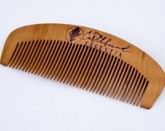 Small Peach Wood Comb - Anti Static Beard Comb