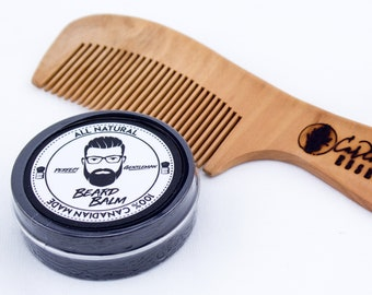 Perfect Gentleman Beard Balm & Large Peach Wood Comb