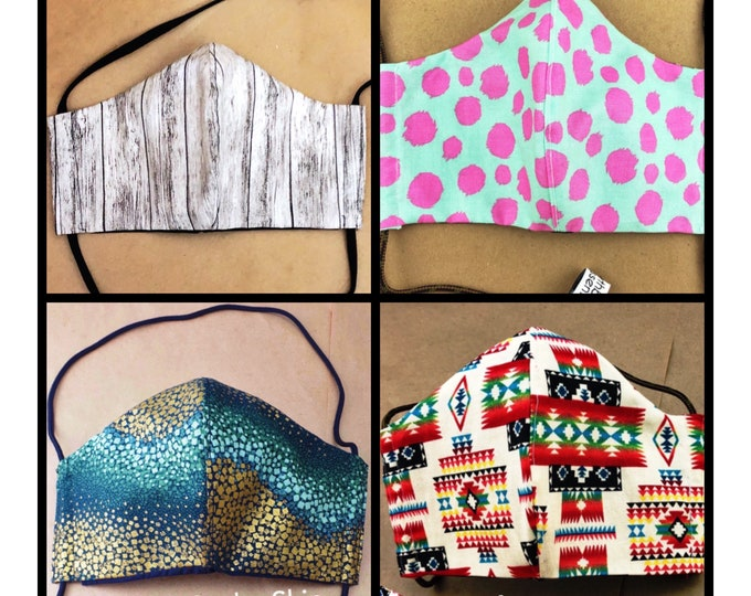 Featured listing image: 3 Layer Face Mask - Multiple Fabric Choices